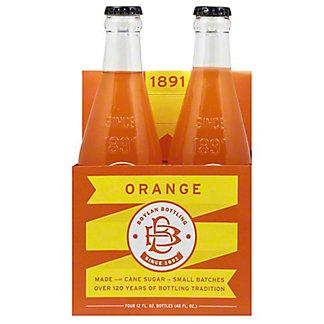 Boylan Orange Soda, 4 pk Glass Bottles, 12 fl oz ea