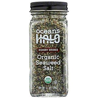 Ocean's Halo Hickory Smoked Organic Seaweed Salt, 4.9 oz