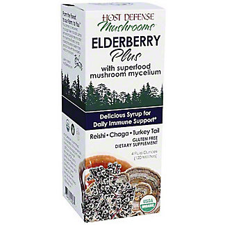 Host Defense Elderberry Plus Syrup, 4 fl oz