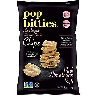Pop Bitties Pink Himalayan Salt Air Popped Ancient Grain Chips, 4 oz