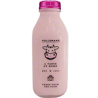 Volleman's Family Farm Strawberry Whole Milk, 32 fl oz