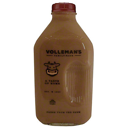Volleman's Family Farm Whole Chocolate Milk, 1/2 gal