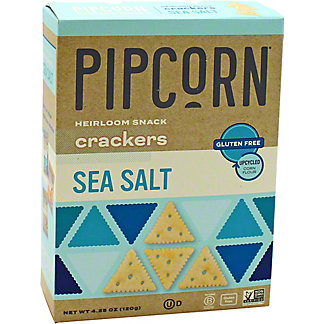 Pipcorn Crackers Sea Salt, 4.25 oz