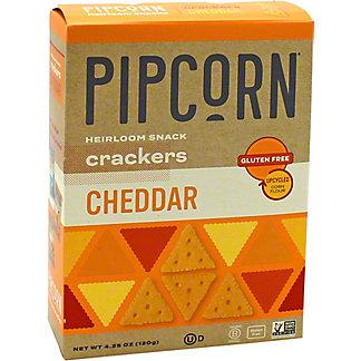 Pipcorn Crackers Cheddar, 4.25 oz