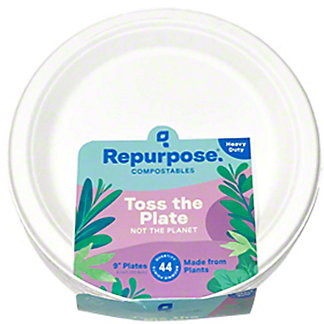 Repurose Heavy Duty Compostable Plates, 44 ct, 9 inch ea