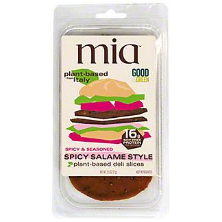 Mia Spicy Salami Style Plant Based Deli Slices, 2.5 oz