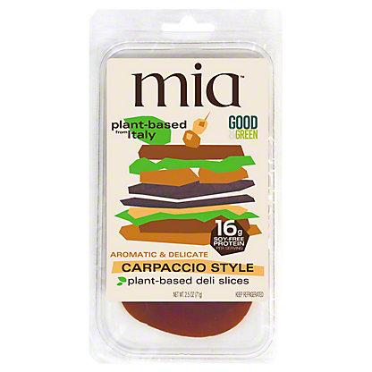 Mia Carpaccio Style Plant Based Deli Slices, 2.5 oz