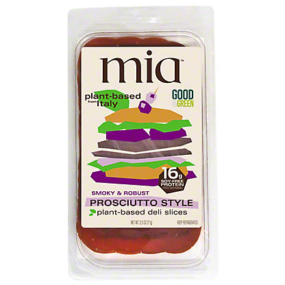Mia Prosciutto Style Plant Based Deli Slices, 2.5 oz