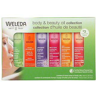 Weleda Body & Beauty Oil Collection, 6 ct