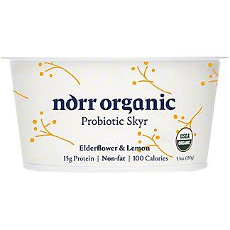 Norr Organic Elderflower Lemon Non Fat Probiotic Skyr, 5.3 oz