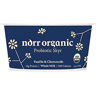 Norr Organic Vanilla ChamomilleWhole MilkProbioticSkyr, 5.3 oz