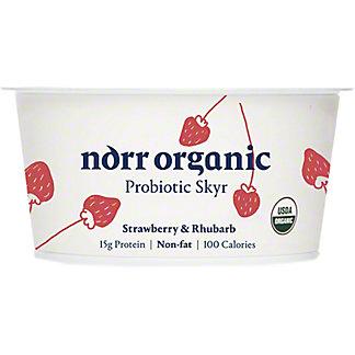 Norr Organic Strawberry Rhubarb Non Fat ProbioticSkyr, 5.3 oz