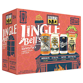 Bell's Jingle Bells Variety Pack, 12 pk Cans, 12 fl oz ea
