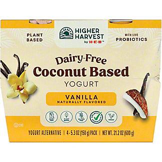 H-E-B VanillaCoconut Milk Yogurt, 4 ct