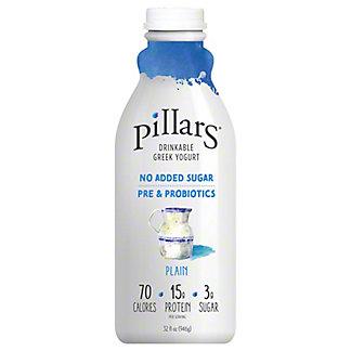 Pillars Drinkable Greek Yogurt Plain, 32 oz
