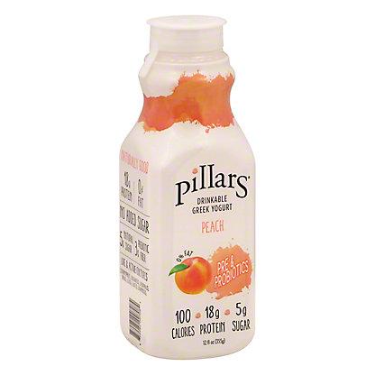 Pillars Drinkable Peach Greek Yogurt, 12 fl oz