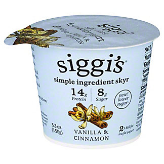 Siggis Vanilla Cinnamon 2% Yogurt, 5.30 oz
