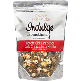 Indulge Hatch Chili Pepper Dark Chocolate Popcorn, 5 oz