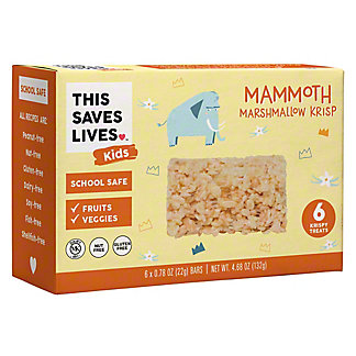 This Saves Lives Kids Mammoth Marshmallow Krispy Treats, 6 ct