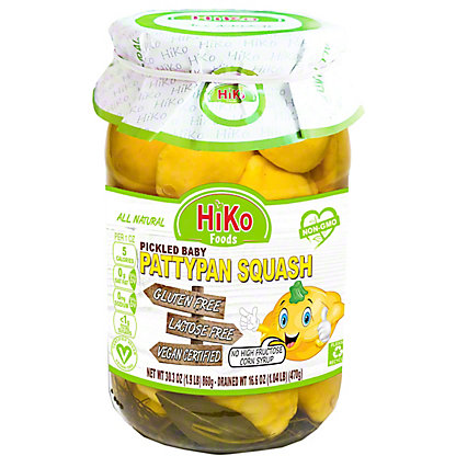 Hiko Pickled Baby Pattypan Squash, 30.3 oz