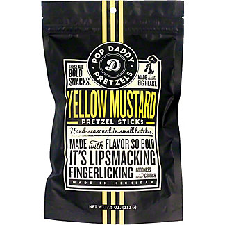 Pop Daddy Pretzels Yellow Mustard, 7.5 oz