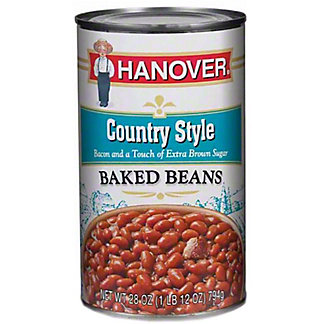Hanover Baked Beans Country Style, 28 oz