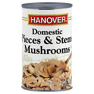 Hanover Mushrooms Pieces And Stems, 16 oz