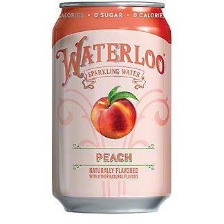 Waterloo Peach Sparkling Water, Can, 12 fl oz