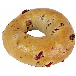 Central Market Boiled Bagel Cranberry Pecan, ea