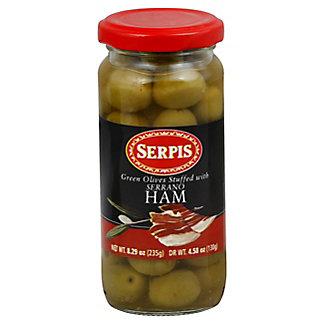 Serpis GreenOlives Stuffed With Serrano Ham, 8.29 oz