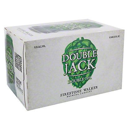 Firestone Walker Double Jack Double IPA Beer, Cans, 6 pk, 12 fl oz ea