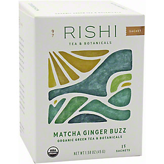 Rishi Matcha Ginger Buzz Tea Bags, 15 ct