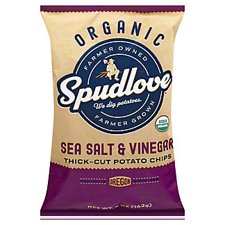 Spudlove Organic Sea Salt & Vinegar Potato Chips, 5 oz