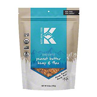 Kate's Real Food Peanut Butter Hemp & Flax Snack Bites, 6.6 oz