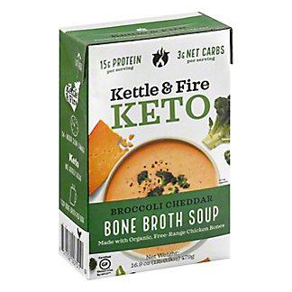 Kettle & Fire Keto Broccoli Cheddar Bone Broth Soup, 16.9 oz