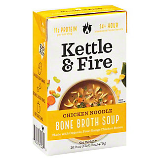 Kettle & Fire Chicken Noodle Bone Broth Soup, 16.9 oz