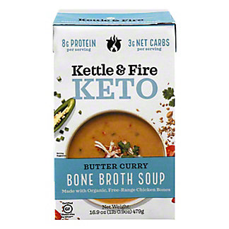Kettle & Fire Keto Butter Curry Bone Broth Soup, 16.9 oz