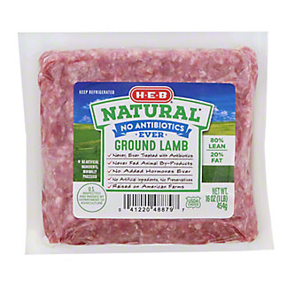 H-E-B Natural Ground Lamb, 16 oz