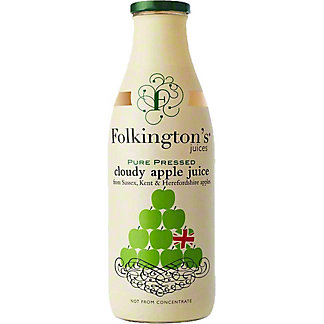 Folkington's Pure Pressed Cloudy Apple Juice, 33.8 fl oz