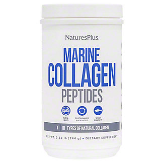 Natures Plus Marine Collagen Peptides Powder, 0.53 lb