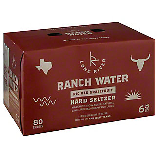 Lone River Ranch Water Rio Red Grapefruit Hard Seltzer, Cans, 6 pk, 12 fl oz ea