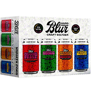 Blur Hard Seltzer Variety Pack, 12 pk Cans, 12 fl oz ea