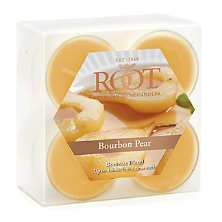 Root Bourbon Pear Tealight Candles, 8 ct