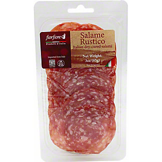 Fiorfiore Sliced Salame Rustico Italian Dry Cured Salami, 3 oz