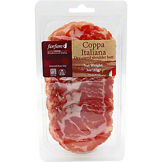 Fiorfiore Sliced Coppa Italiana Dry Cured Shoulder Butt, 3 oz