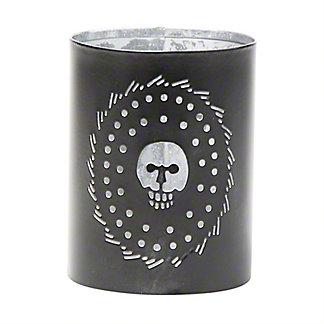 Tag Black Pierced Skull Lantern, ea