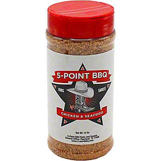 5-Point BBQ Chicken & Seafood BBQ Rub, 12 oz