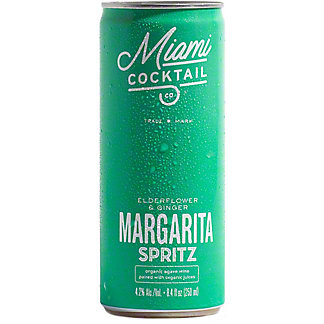 Miami Cocktail Co. Elderflower & Ginger Margarita Spritz, Cans, 4 pk, 8.4 fl oz ea