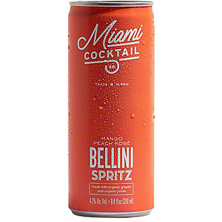 Miami Cocktail Co. Mango Peach Rosé Bellini Spritz, Cans, 4 pk, 8.4 fl oz ea