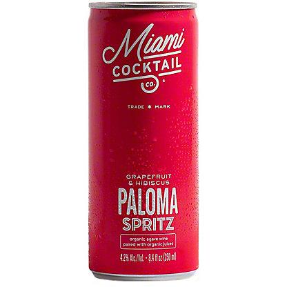 Miami Cocktail Co. Grapefruit & Hibiscus Paloma Spritz, Cans, 4 pk, 8.4 fl oz ea